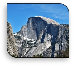 Half Dome is one of the most famous landmarks in spectacular Yosemite National Park.