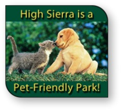 High Sierra is a Pet-Friendly Park
