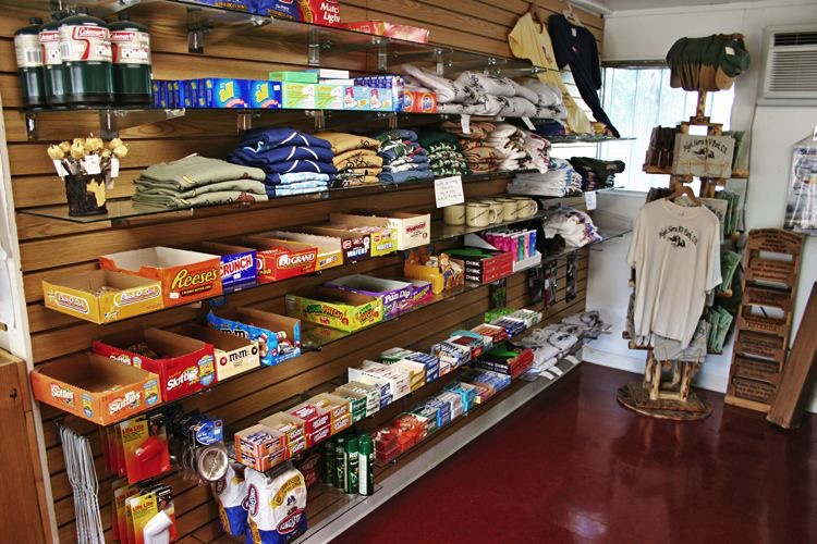 Come On Inside Our Conveniently Located Gift Snack Shop For A Wide Selection Of Snacks Drinks Camping RV Supplies And Gifts